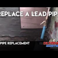 Replace lead pipe