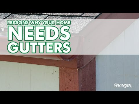 why rain gutters are needed