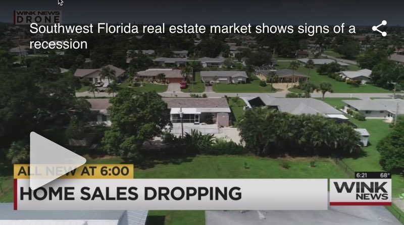 Southwest Florida Real Estate Market Showing Signs of a Recession